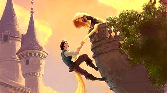 Rapunzel in Tangled. Photo by www.popsugar.com