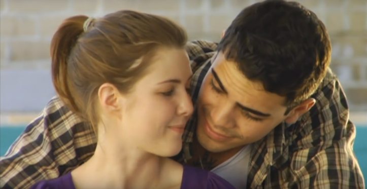Kiara Westford & Carlos Fuentes di official book trailer Rules of Attraction. Photo credit: Enomis Entertainment