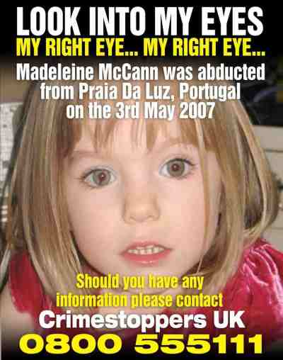Madeleine McCann. photo by Davidicke.com
