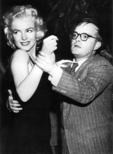 Marilyn Monroe & Truman Capote. Photo by Thisismarilyn.com