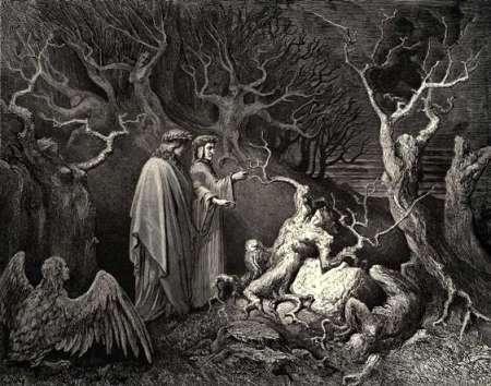 Dante's Inferno karya Gustave Dore. Source: Wikiart