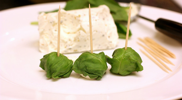 Prim's Basil Goat Cheese. Photo credit: Tablespoon.com