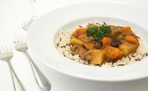 Lamb stew with dried plums. Photo credit: Fictionalfood.net