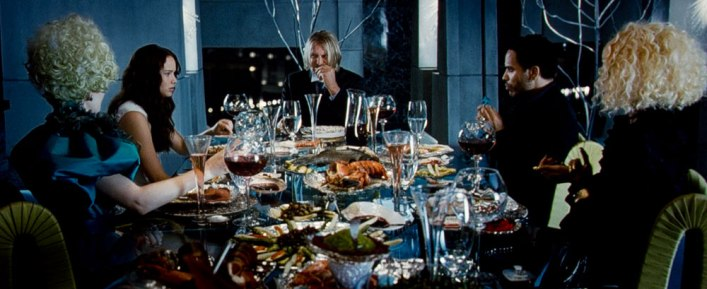 Dinner scene The Hunger Games movie. Photo credit: Lionsgate
