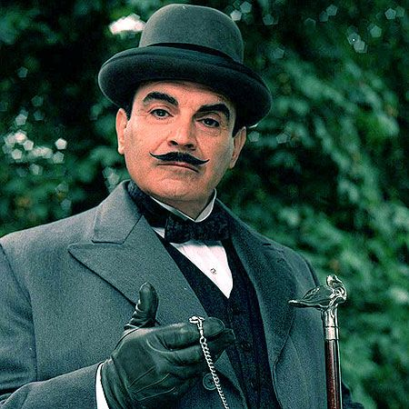 Hercule Poirot. Photo credit: Pinterest