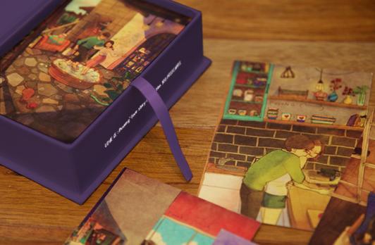 Postcard box Love Is... Photo credit: Kickstarter