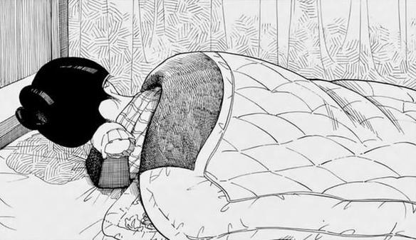 Maiko tidur dengan bantal takamakura agar tidak merusak sanggul. Photo credit: Sogakukan/Shounen Sunday//a/nonymous