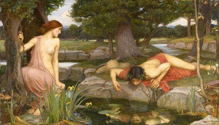 Lukisan Echo & Narcissus oleh John William Waterhouse