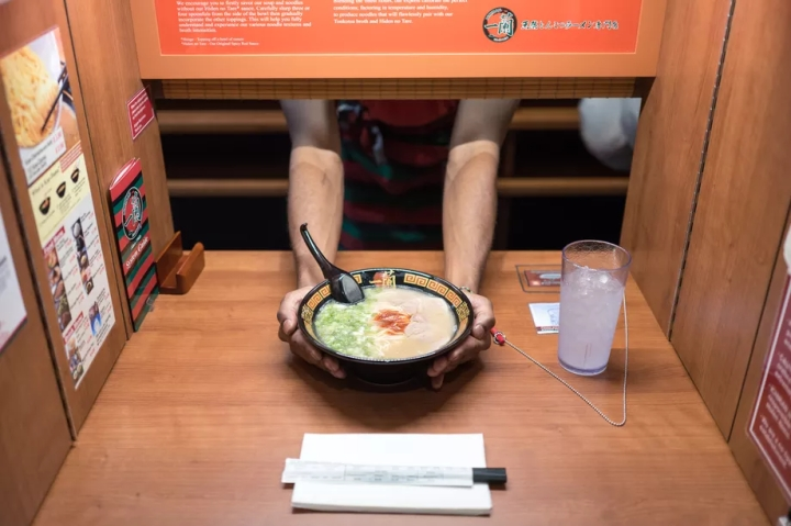 Penyajian di Ichiran Ramen. Photo credit: Nick Solares