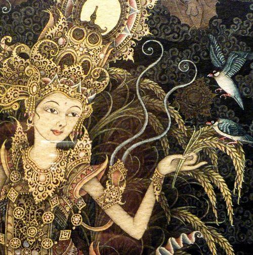 Dewi Sri, dewi padi dan pertanian. Photohe Broom Closet