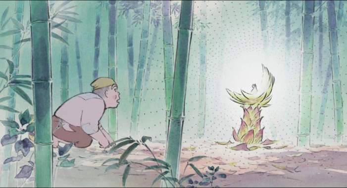 Ilustrasi kelahiran Putri Kaguya. Photo credit: Studio Ghibli