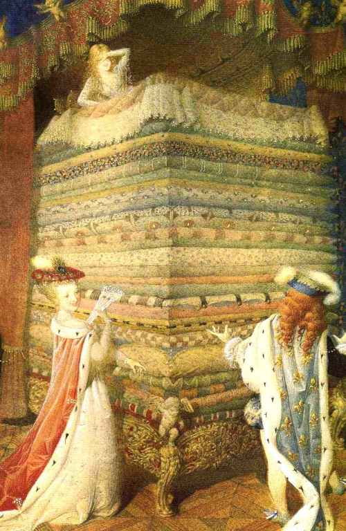 Ilustrasi The Princess of The Pea karya Gennady Spirin. Photo credit: Gathered Nettles