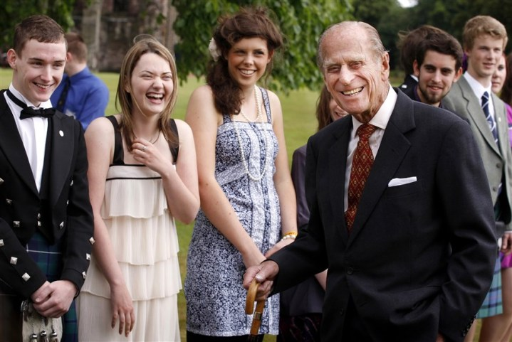 Pangeran Philip di upacara penerimaan The Duke of Edinburgh Gold Award (2010). Photo credit: WPA Pool/Getty Images