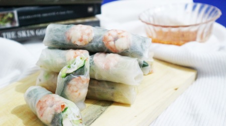 Vietnamese summer roll. Photo: Tantri Setyorini