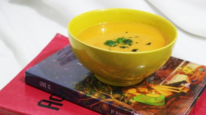 Carrot potage Hanamaru's Kitchen. Photo: Tantri Setyorini