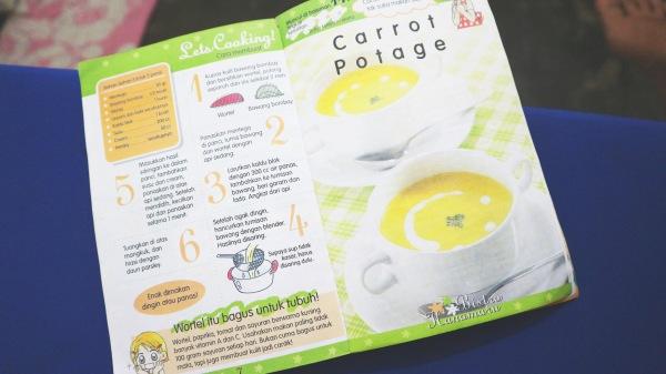 Resep carrot potage Hanamaru's Kitchen. Photo: Tantri Setyorini