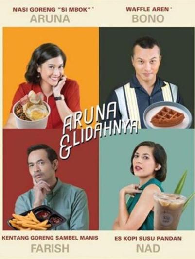 Empat menu spesial yang bisa dipesan saat penayangan di Aruna dan Lidahnya. Photo: Palari Films