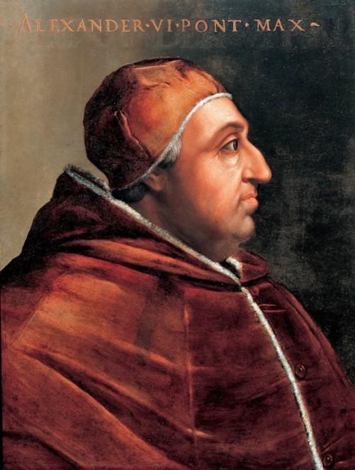 Lukisan Paus Aleksander VI oleh Cristofano dell'Altissimo. Photo: Wikimedia Commons